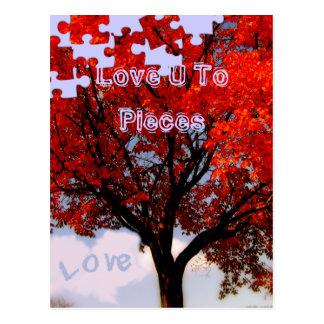Amor U a los pedazos Tarjeta Postal