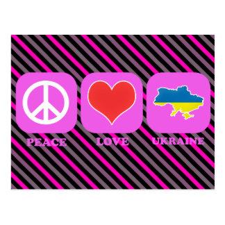 Amor Ucrania de la paz Tarjeta Postal