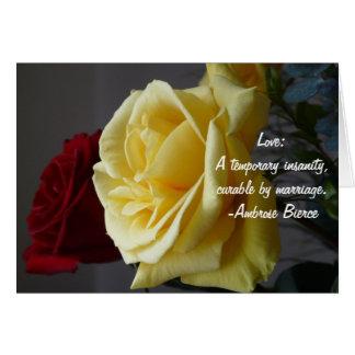 Amor: Una locura temporal… Tarjeta De Felicitación