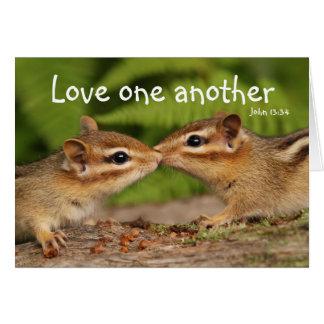 Amor una otra tarjeta de los Chipmunks