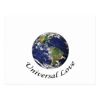 Amor universal en la tierra postales