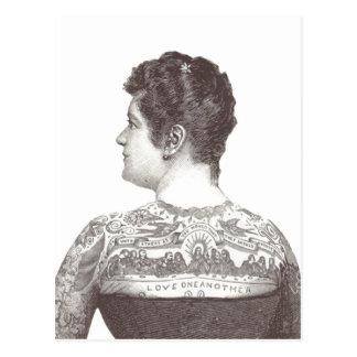 """""""Amor uno otro"""" mujer tatuada del Victorian Postal"""