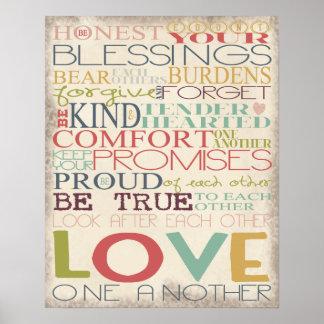 Amor uno otro póster