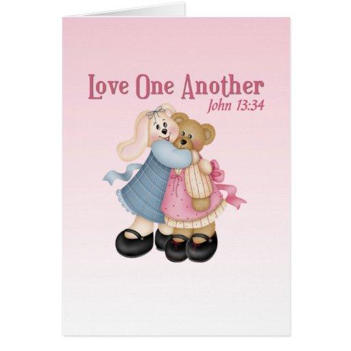 Amor uno otro tarjeta de felicitación