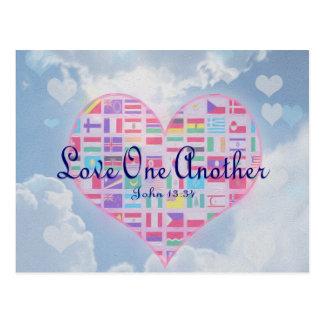 Amor uno otro tarjeta postal