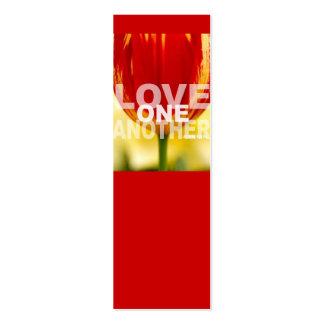 Amor uno otro tarjetas de visita mini