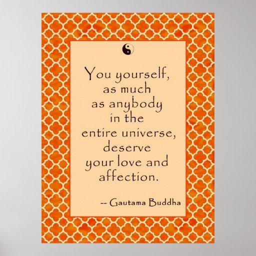 Amor usted mismo de la cita de Buda…. en los poste Impresiones