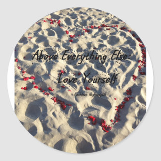 Amor usted mismo pegatina redonda