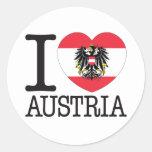 Amor v2 de Austria Etiquetas Redondas