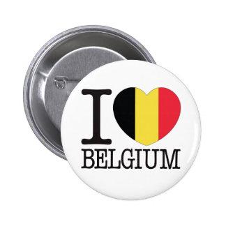 Amor v2 de Bélgica Pin Redondo De 2 Pulgadas