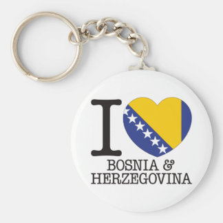 Amor v2 de Bosnia y Hercegovina Llavero Personalizado
