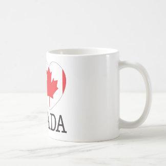 Amor v2 de Canadá Taza Básica Blanca