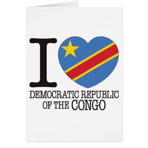 Amor v2 de D R Congo Tarjeta De Felicitación