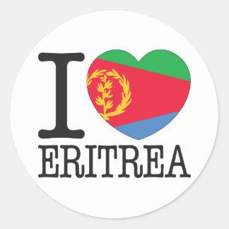Amor v2 de Eritrea Pegatina Redonda