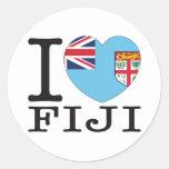 Amor v2 de Fiji Etiquetas Redondas