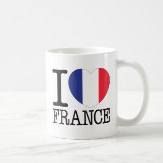Amor v2 de Francia Tazas De Café