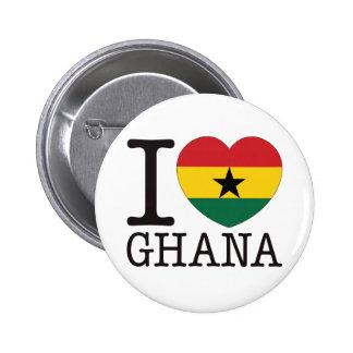 Amor v2 de Ghana Pin Redondo De 2 Pulgadas