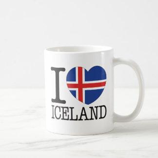 Amor v2 de Islandia Taza Básica Blanca