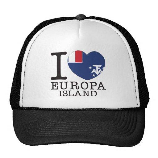 Amor v2 de la isla de Europa Gorras De Camionero