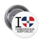 Amor v2 de la República Dominicana Pin