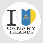 Amor v2 de las islas Canarias Pegatina