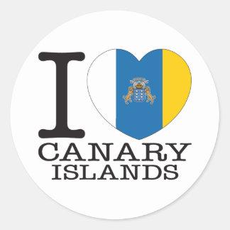 Amor v2 de las islas Canarias Pegatina Redonda