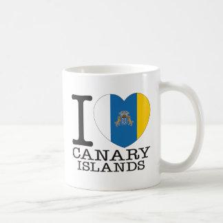 Amor v2 de las islas Canarias Tazas De Café