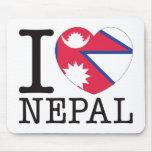 Amor v2 de Nepal Alfombrillas De Ratones