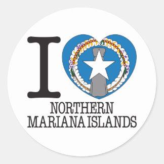 Amor v2 de Northern Mariana Islands Pegatina Redonda