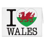 Amor v2 de País de Gales Felicitación