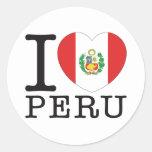 Amor v2 de Perú B Pegatinas Redondas