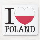Amor v2 de Polonia Alfombrillas De Raton