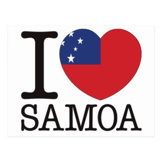 Amor v2 de Samoa Tarjeta Postal