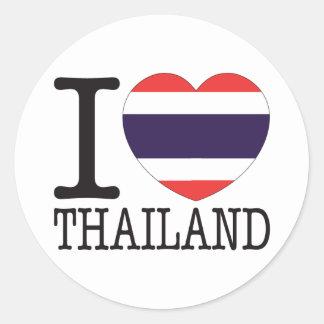 Amor v2 de Tailandia Pegatina Redonda