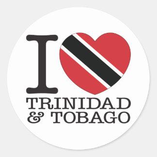 Amor v2 de Trinidad and Tobago Etiqueta Redonda