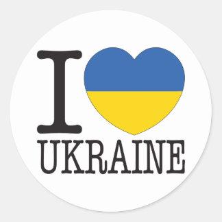 Amor v2 de Ucrania Pegatina Redonda
