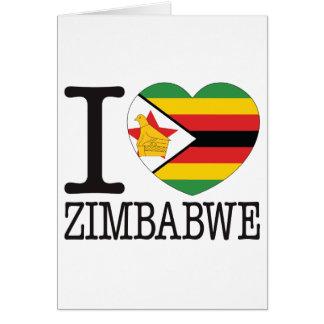 Amor v2 de Zimbabwe Tarjeta