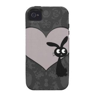 Amor V del conejito de Kuro Case-Mate iPhone 4 Funda