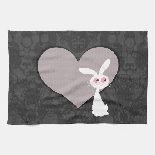 Amor V del conejito de Shiro Toalla De Cocina
