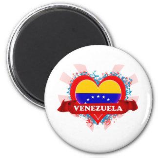 Amor Venezuela del vintage I Imán Redondo 5 Cm