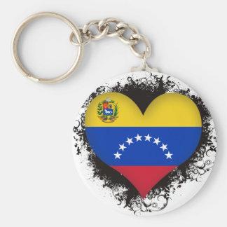 Amor Venezuela del vintage I Llavero Redondo Tipo Pin