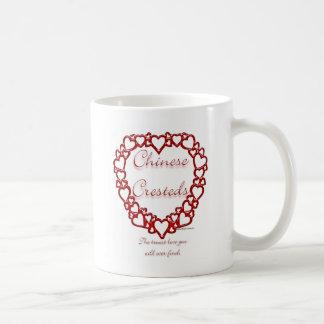 Amor verdadero con cresta chino taza clásica