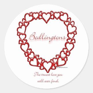 Amor verdadero de Bedlington Terrier - pegatina