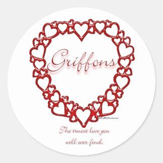 Amor verdadero de Bruselas Griffon - pegatina