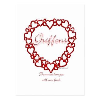 Amor verdadero de Bruselas Griffon Tarjetas Postales