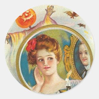 Amor verdadero de Halloween Etiquetas Redondas