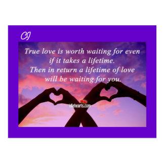 Amor verdadero - postal