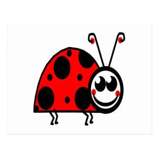 amor verdadero que espera del insecto de la señora tarjetas postales