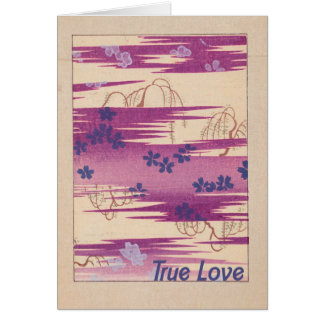 Amor verdadero retro tarjeta de felicitación