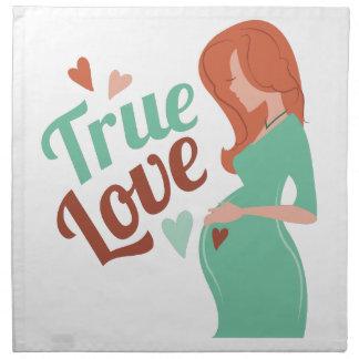 Amor verdadero servilletas imprimidas